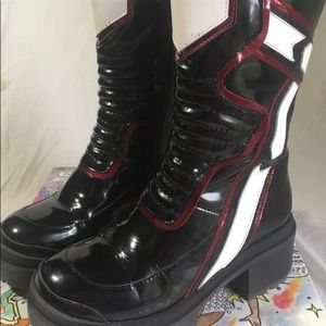 Jeffrey Cambell Hit-girl moto boots like new 8 US